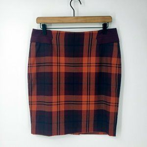 The Limited NWT Plaid Pencil Skirt sz 6 Petite